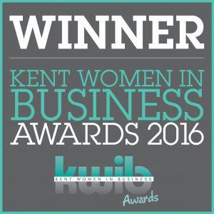 Winner of the Kent Women in Busness Award 2016
